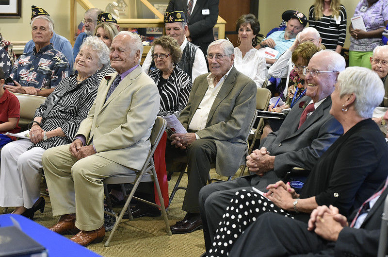 Tyler veterans receive medal of Knight in the French Legion of Honor during ceremony Monday at Watkins-Logan Texas State Veterans Home