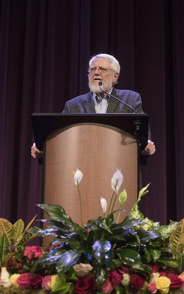 Garden and Gun Magazine columnist Roy Blount Jr. speaks at Texas Rose Festival Ladies' Luncheon