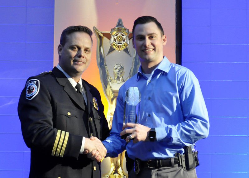 Tyler Police Department honors employees during banquet; Officer Jason Shields receives Officer of the Year award