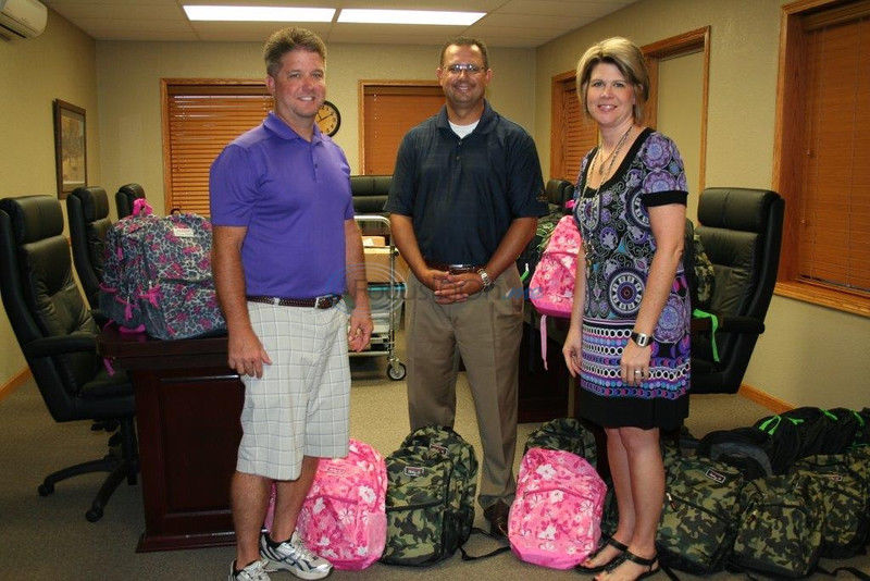 American State Bank donates 40 backpacks, school supplies