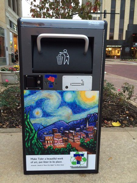 High tech trash containers installed in downtown Tyler