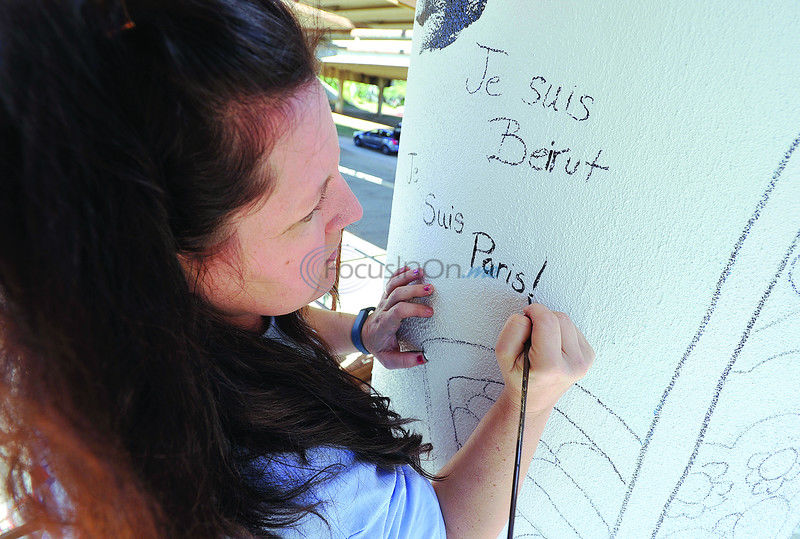 Artists continue Art Enrichment project on Gentry overpass