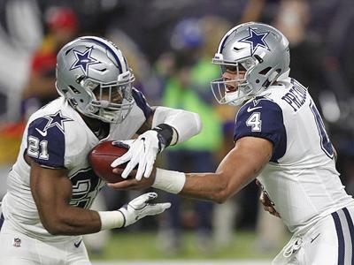 Dallas Cowboys' Ezekiel Elliott leads in NFL Pro Bowl voting, with Dak Prescott second