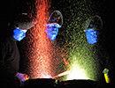 Colorful trio to 'paint' Belcher Center blue