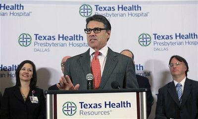 Perry creating infectious disease task force