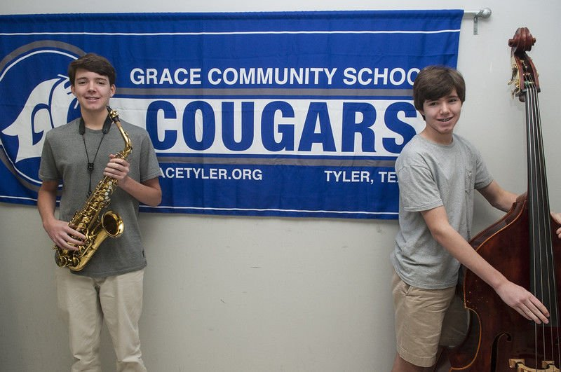 Twin brothers to represent Grace Community School Jazz Band at state level concerts