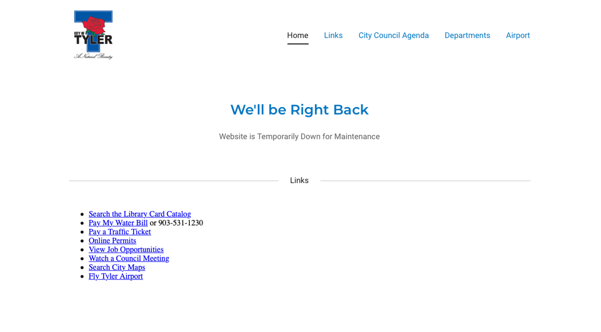 City of Tyler website down after being hacked for 2nd time
