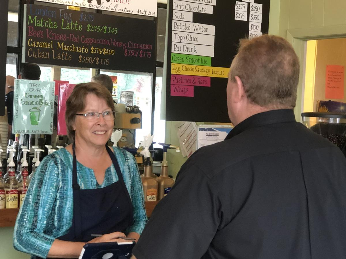 Lindale coffee shop hosts coffee with badges