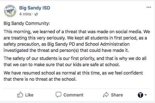 Big Sandy ISD classes resume following social media threat | Local ...