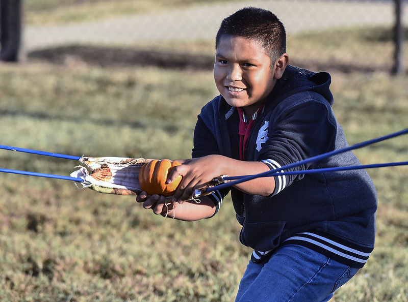 Chunkin' Science: Griffin students fling pumpkins to learn science, math