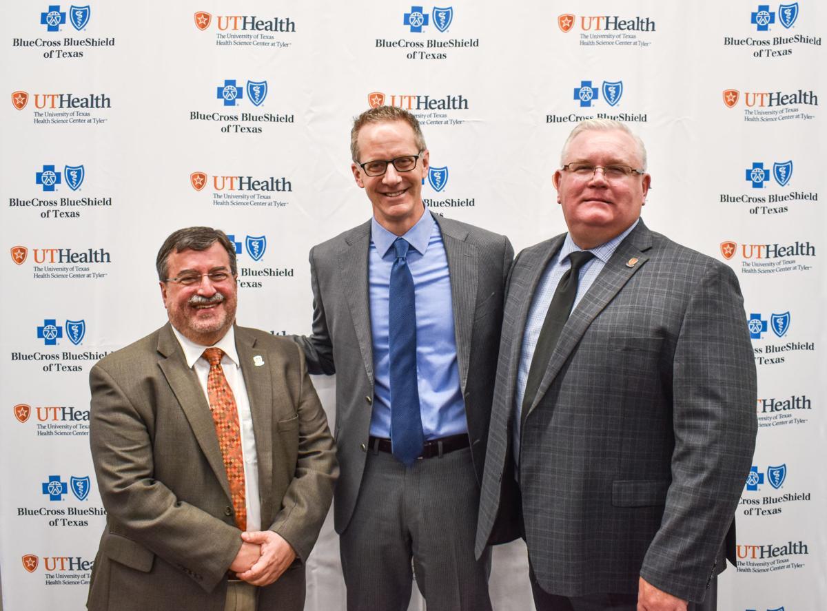 Dr. Jeffrey Levin, UTHSCT Provost, Dr. Paul Hain, BCBSTX Chief Medical Officer and Dr. Gerald Ledlow, UTHSCT SCRH Dean.jpg