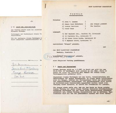 1961 Beatles recording contract sells for over $90,000