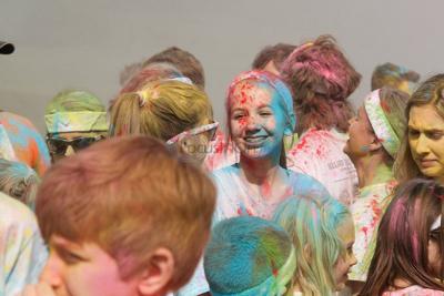 PHOTOS Strides For Excellence Color Fun Run