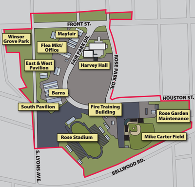 Master plan in the works for area around the fairgrounds, Rose Garden and Harvey Convention Center