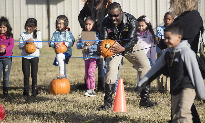 Griffin Elementary School teaches pumpkins to fly