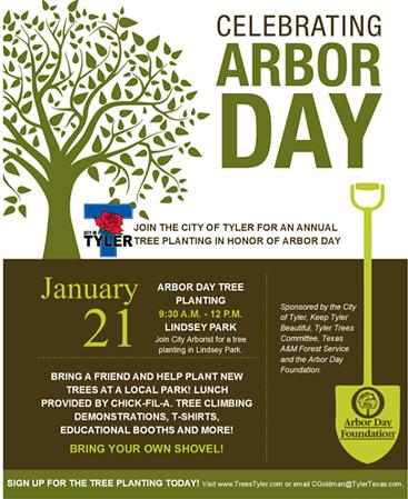 Annual Arbor Day tree planting celebration set for Jan. 21