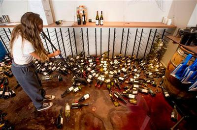 Strong California quake shakes famed wine country