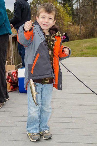 Trout fishing set