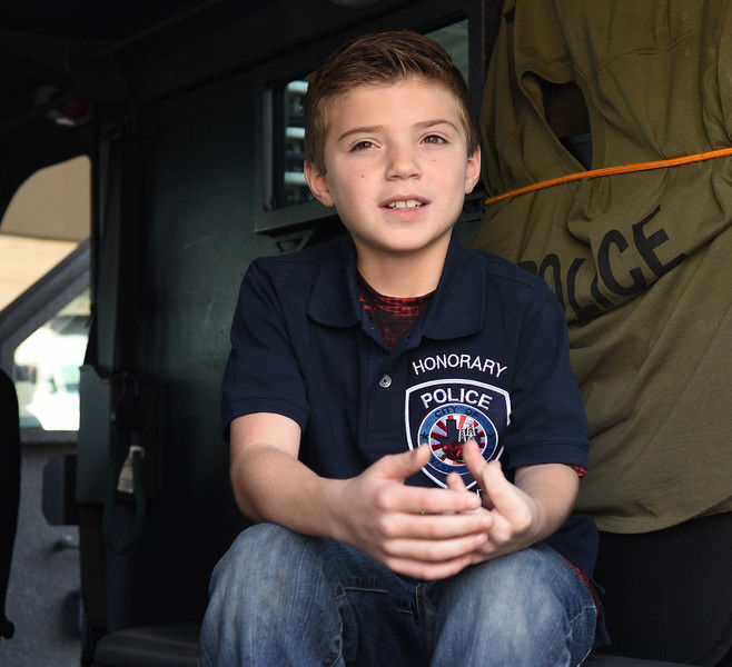 Child cancer survivor Corbin Glasscock gets Make-A-Wish of being Tyler Police Department Chief for the Day