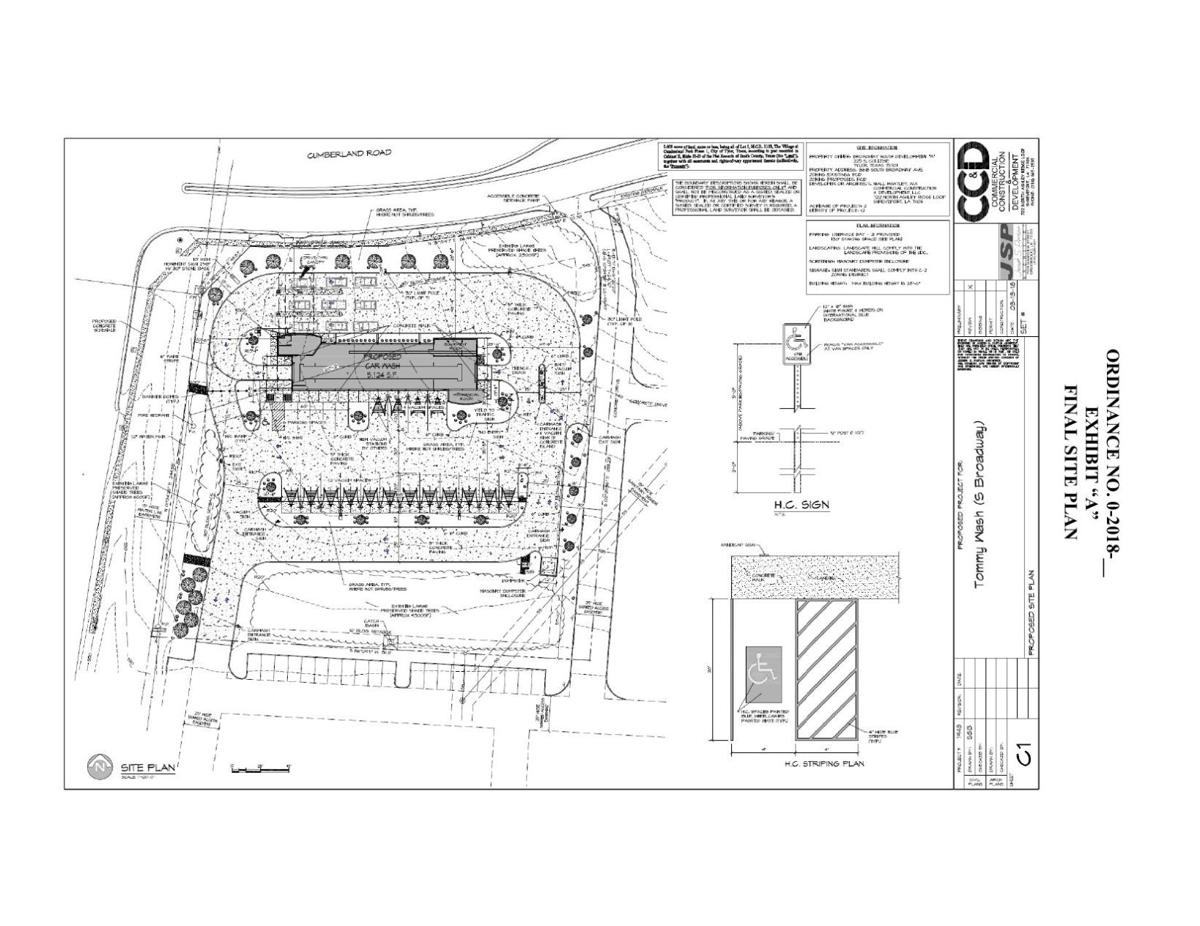 Site Plan for Car Wash at Cumberland and South Broadway – Car Wash Site Plans