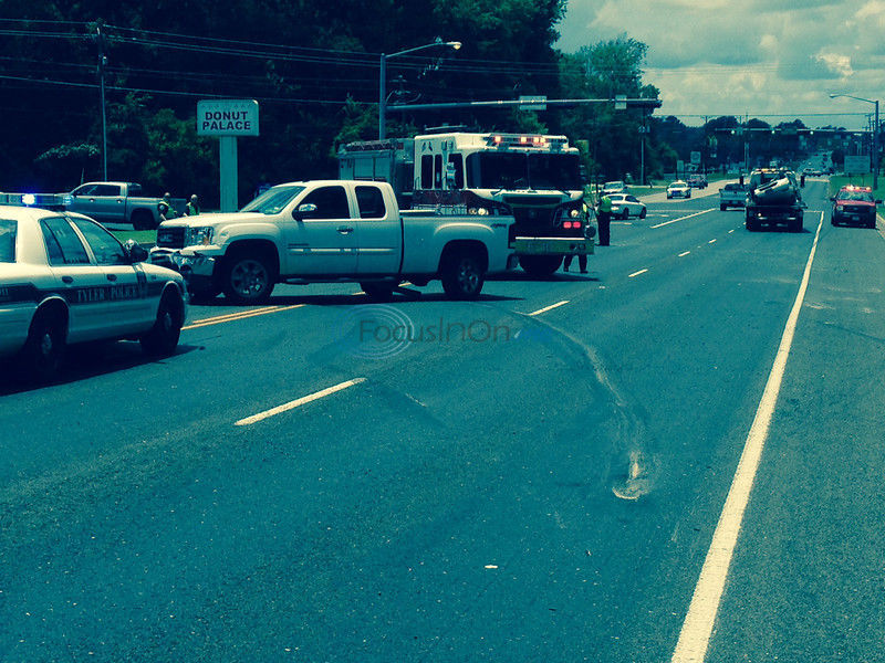 UPDATE: One removed to hospital from accident at Fifth and Old Omen in Tyler