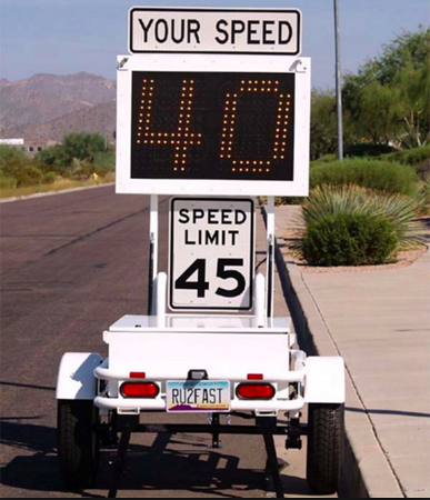 Commissioners reject speed humps, consider speed trailers for problematic county roads