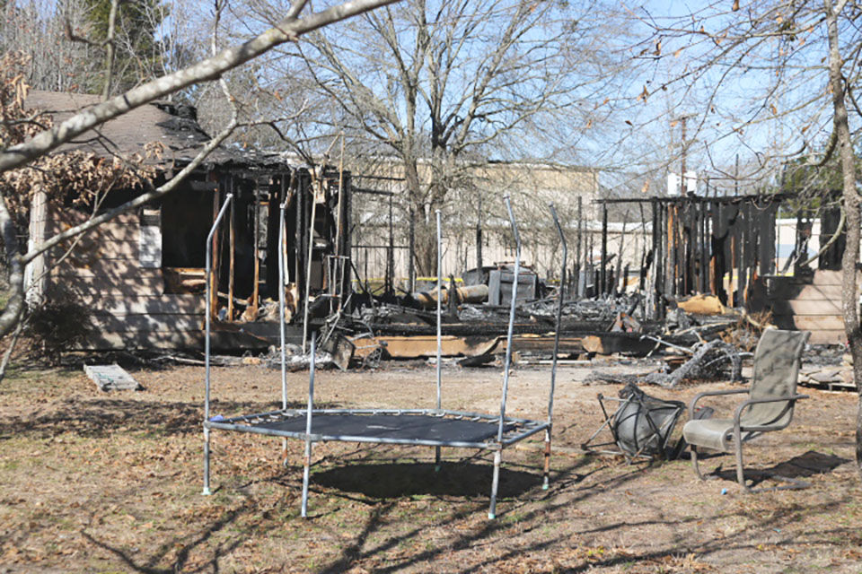 Damages of fatal fire in Winola County