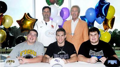 Three Brook Hill football players sign