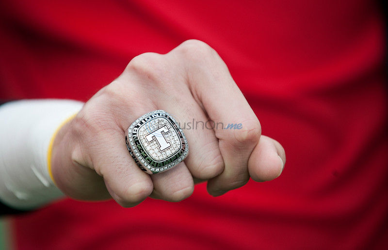 TJC men's soccer received their national championship rings