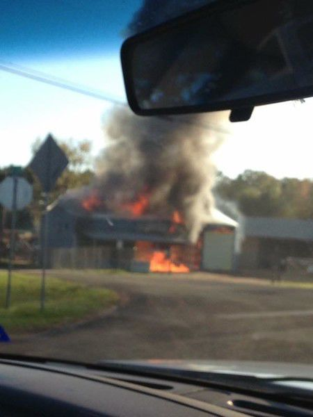Cherokee County road maintenance barn destroyed by fire