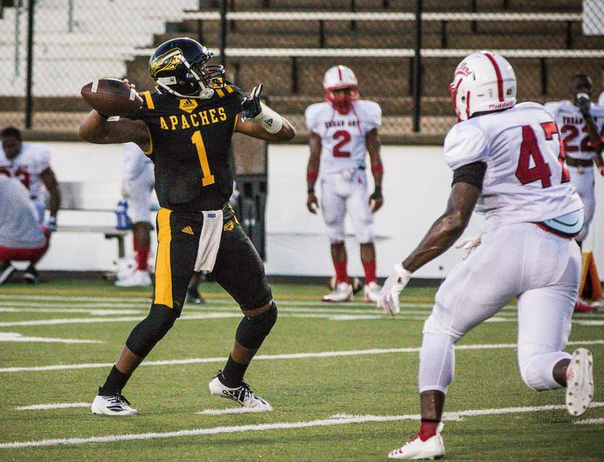 TJC Football: Apaches roll to win in home opener