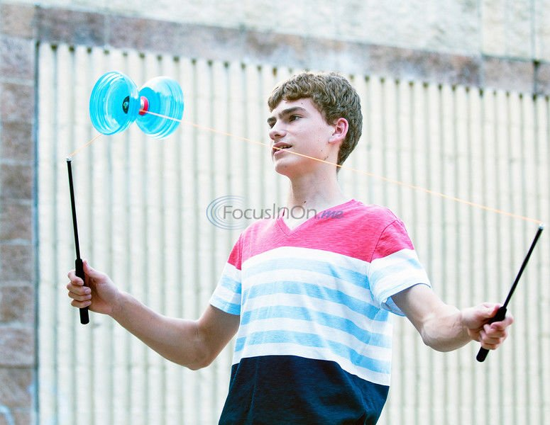 Up In The Air: Juggler is off to join the circus, with the support of his parents