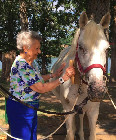 Local woman receives surprise visit to Tyler Rose Horse Park