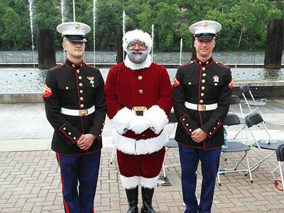The Mall of America's first black Santa: U.S. Army veteran Larry Jefferson of Texas