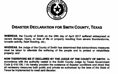 Smith County ratifies emergency resolution to help Canton tornado recovery