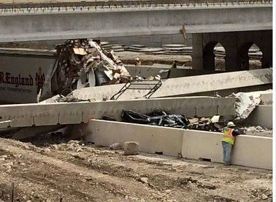 UPDATE: Tractor-trailer plows into Texas interstate bridge, 1 killed