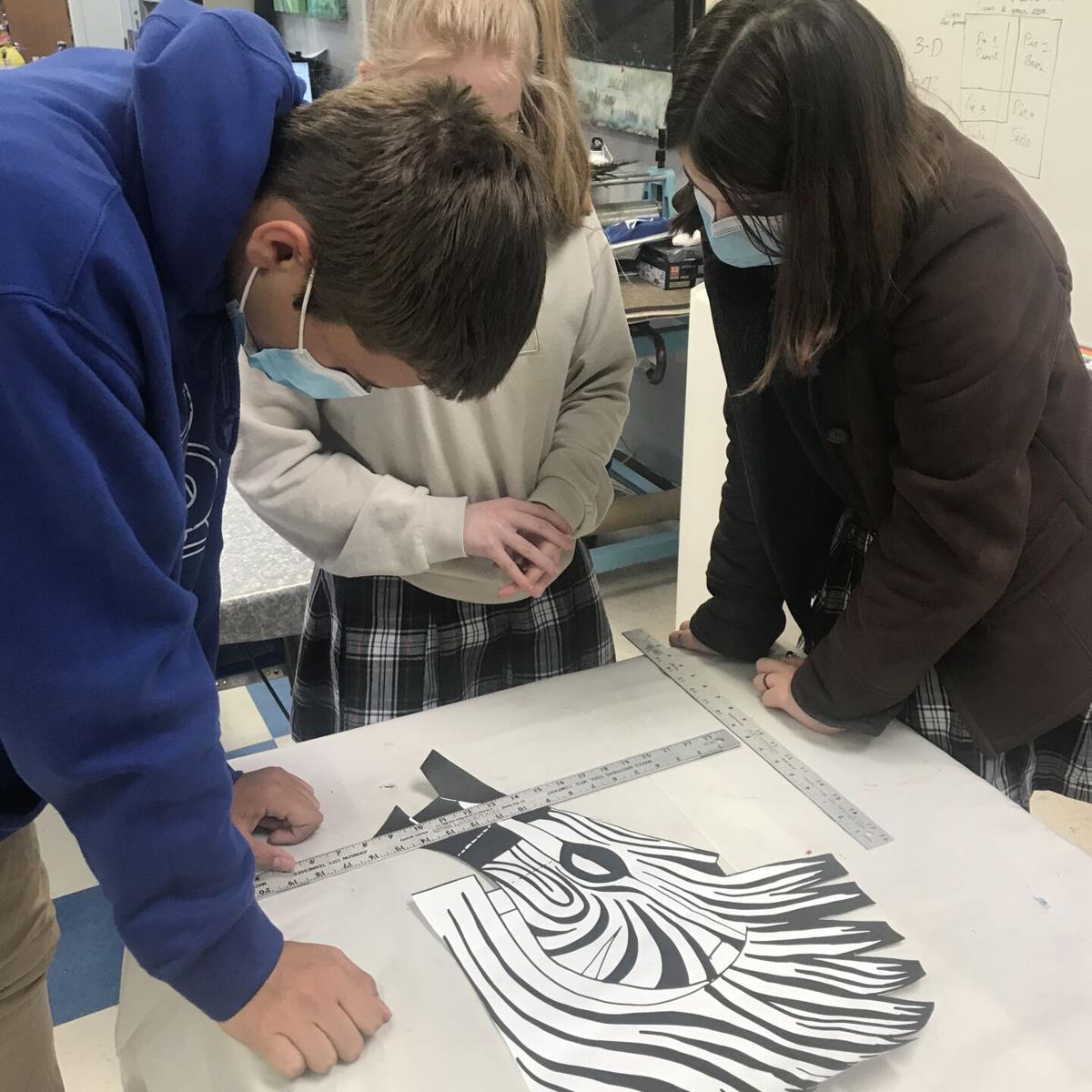 "All Saints Episcopal School students work on masks for TJC ""Aladdin"" production"