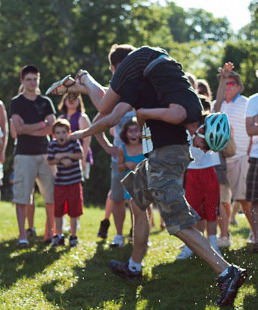 Wisconsin man wins popular wife-carrying contest