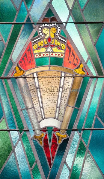 Stained-glass pieces enhance area synagogue