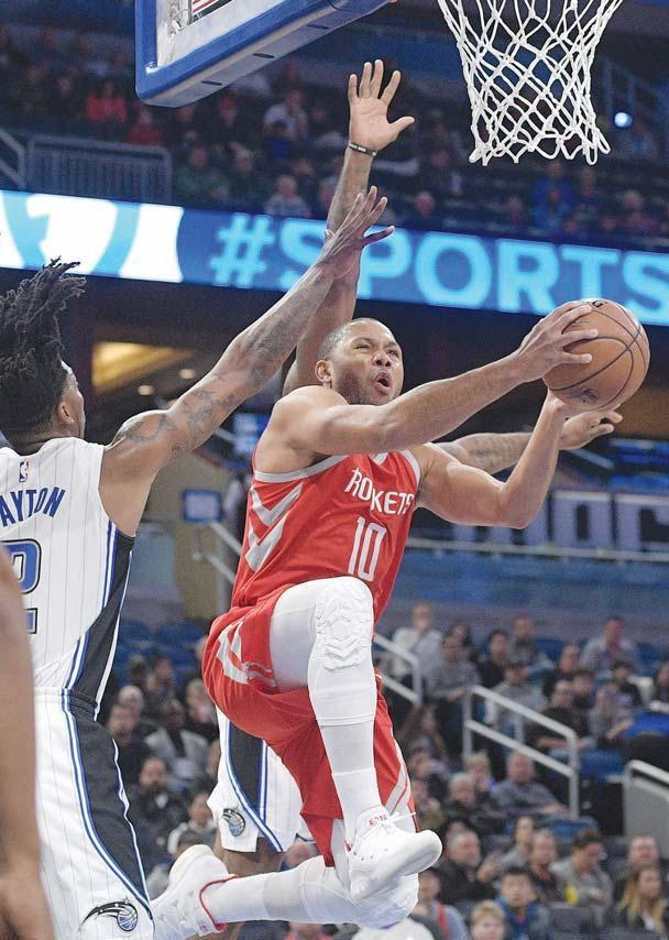 Rockets win without scoring leader Harden, routing Magic 116-98