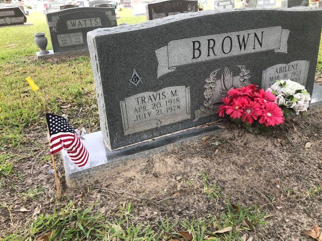 Travis Brown gravesite