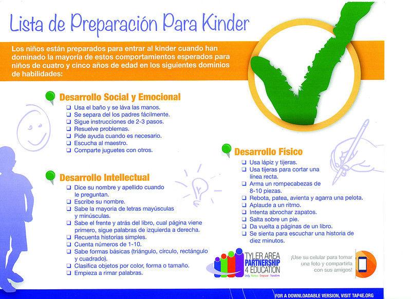 Readiness checklist helps parents prepare children for kindergarten ...