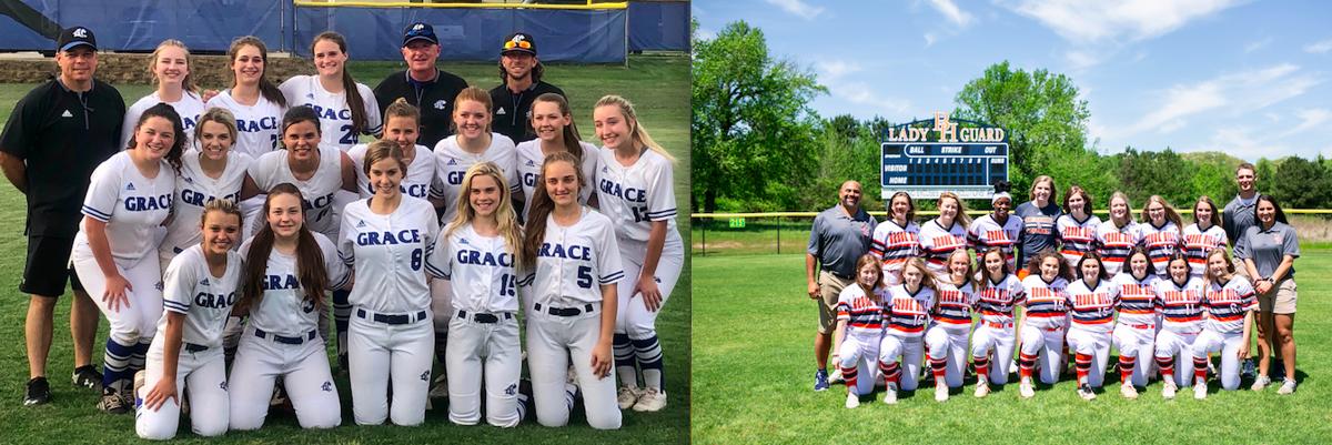 Grace Community vs. Brook Hill softball