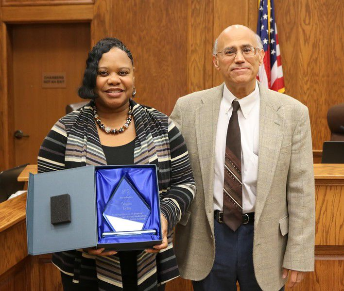 Two Smith County employees recognized and honored