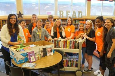Hubbard Middle School students host book drive for flood-damaged Louisiana schools