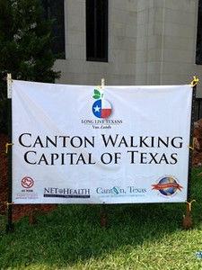 Canton officially walking capital of Texas