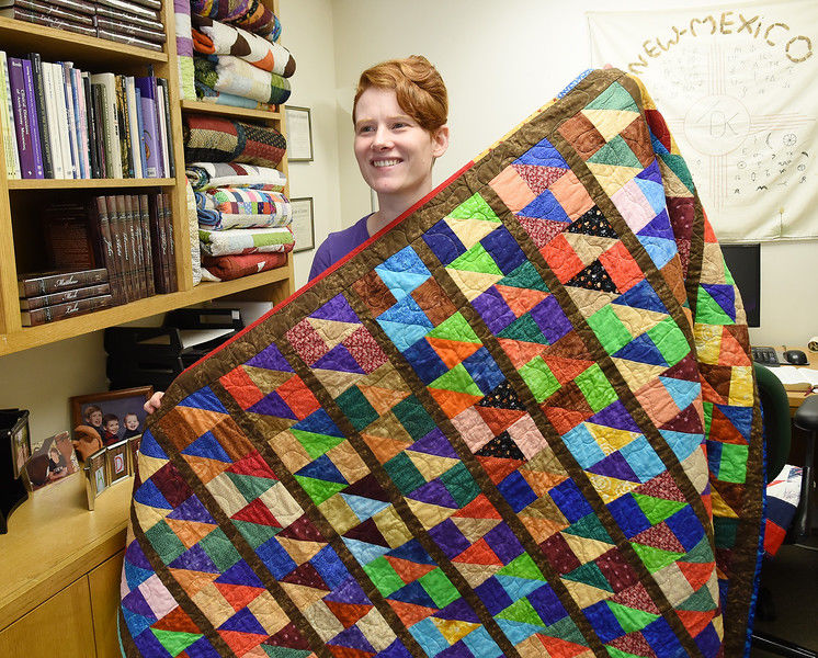 Kat Drinkwater uses quilts to bring comfort to patients at ETMC