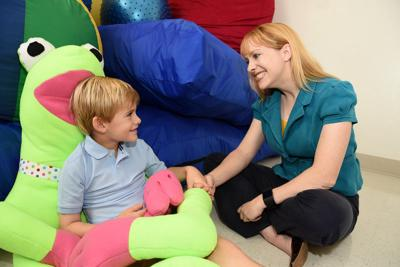 Comfort frogs help child victims heal at ETMC