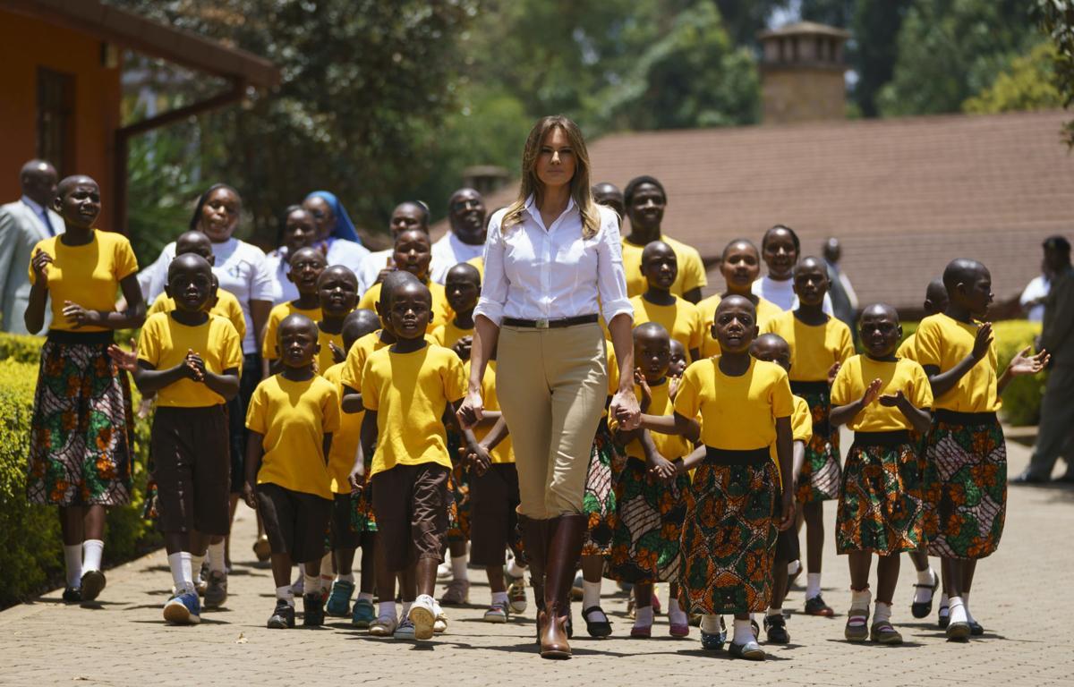 APTOPIX Melania Trump Africa
