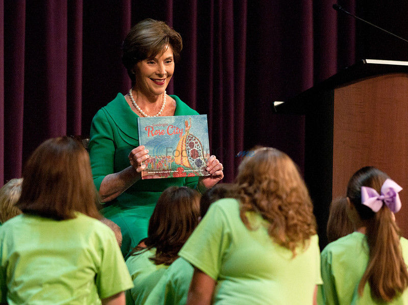 VIDEO: Laura Bush reads book at 'Goodnight Rose City' launch